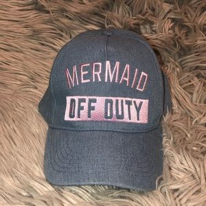 UO mermaid off duty denim baseball hat